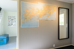 The entrance. Map over Lofoten.