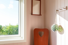 The pink bedroom.