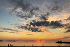 Midnight sun at Hov beach