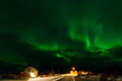 Northern lights above Lilllevik